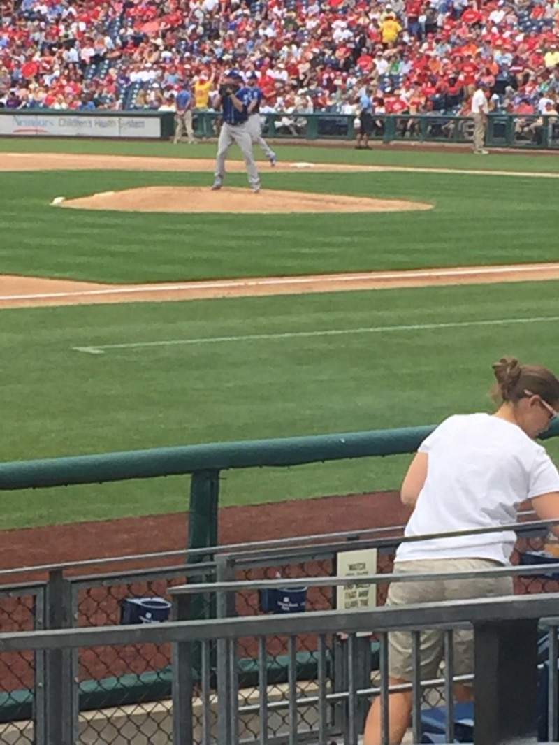 Seating view for Citizens Bank Park Section 133 Row 10 Seat 2