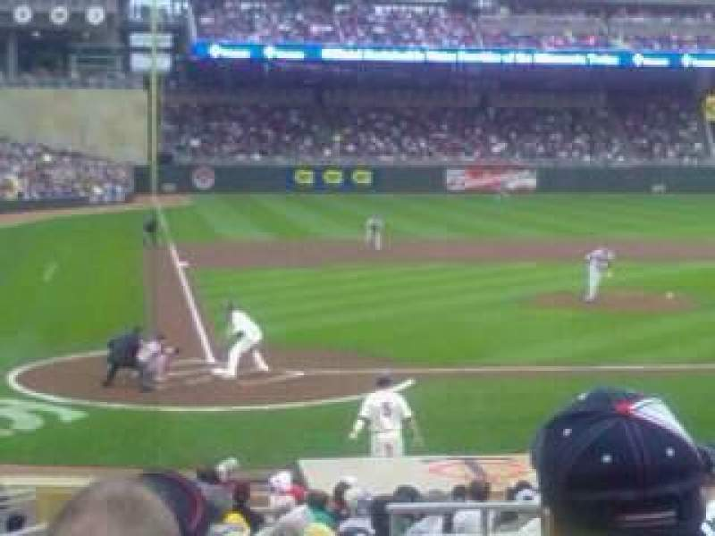 Seating view for Target Field Section 110 Row 2 Seat 8
