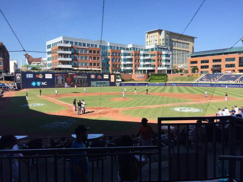 Seating view for Durham Bulls Athletic Park Section 202 Row N Seat 8