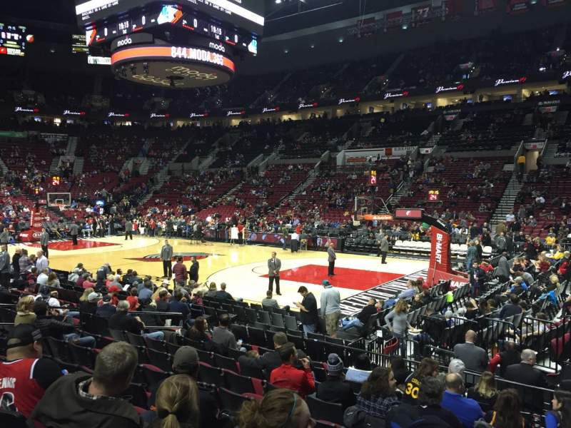 Seating view for Moda Center Section 110 Row K Seat 7