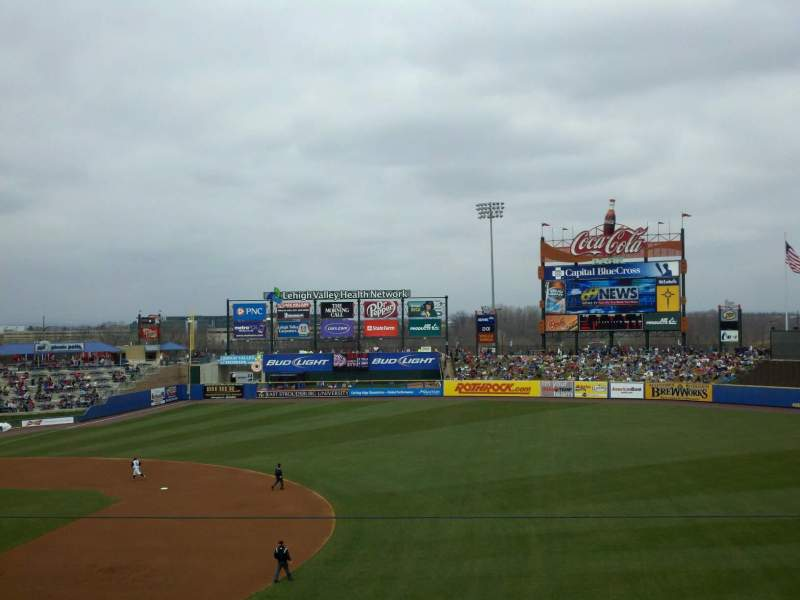 Seating view for Coca-Cola Park Section 201 Row E Seat 19