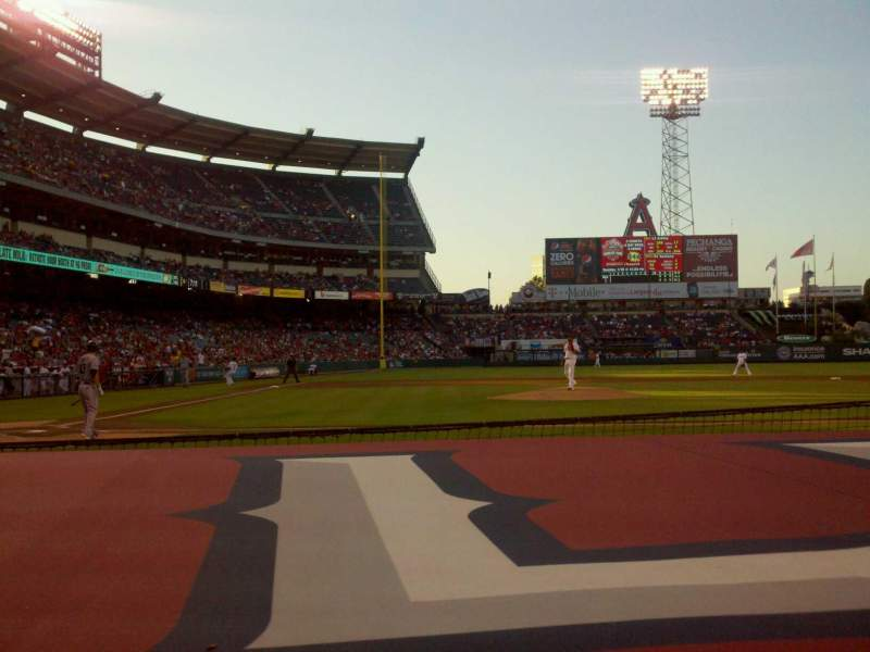 Seating view for Angel Stadium Section F123 Row C Seat 7