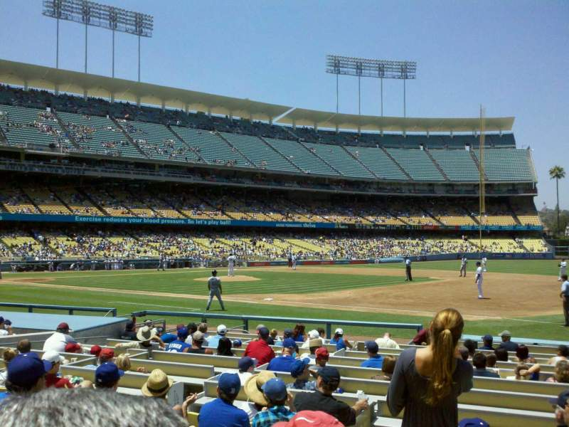 Dodger Stadium, section 28FD, home of Los Angeles Dodgers