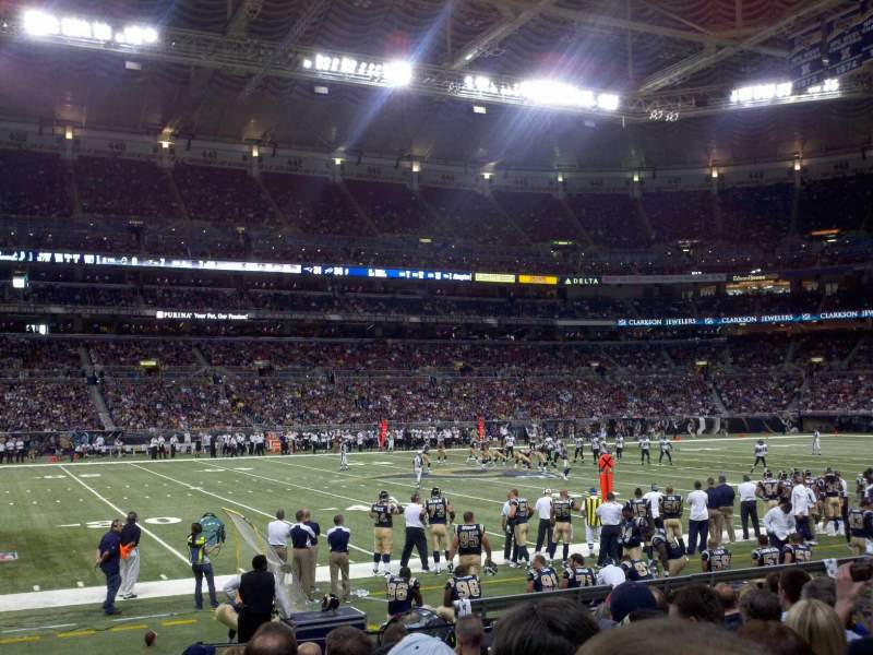 Seating view for The Dome at America's Center Section 115 Row I Seat 21