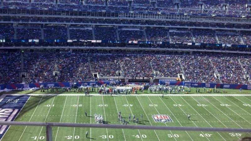 Seating view for MetLife Stadium Section 315 Row 2 Seat 18