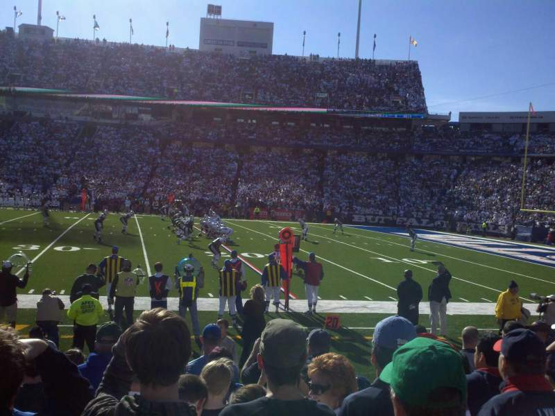 Seating view for Buffalo Bills Stadium Section 110 Row 8 Seat 5
