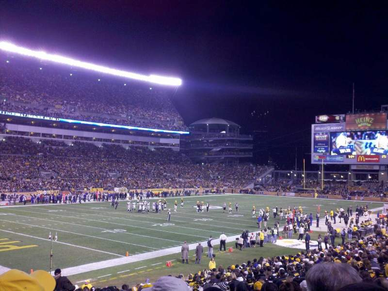 Seating view for Heinz Field Section 128 Row P Seat 3