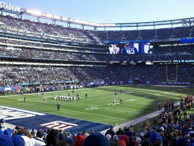 Seating view for MetLife Stadium Section 146 Row 23 Seat 17