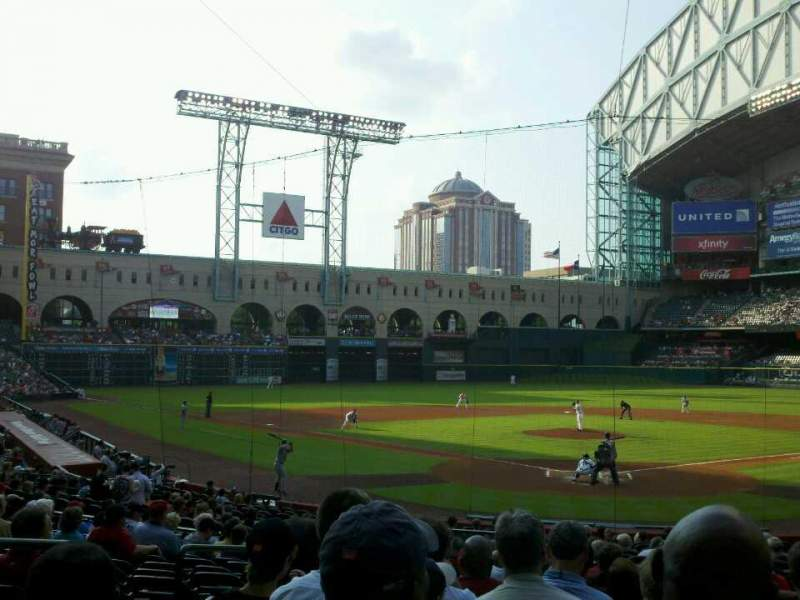 Seating view for Minute Maid Park Section 119 Row 25 Seat 5