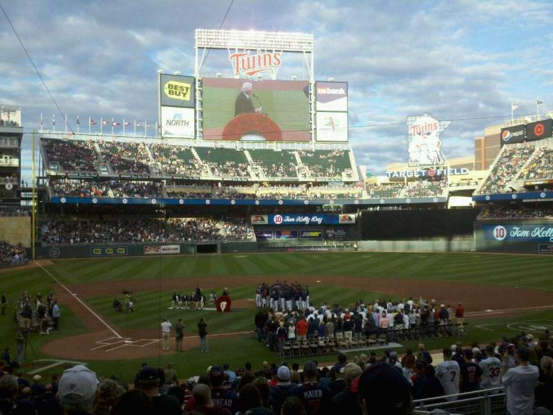 Seating view for Target Field Section 111 Row 11 Seat 7