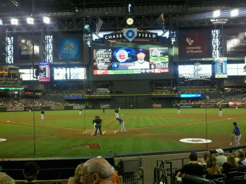 Seating view for Chase Field Section J Row I Seat 1