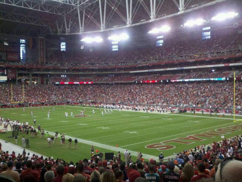 Seating view for University of Phoenix Stadium Section 102 Row 32 Seat 11