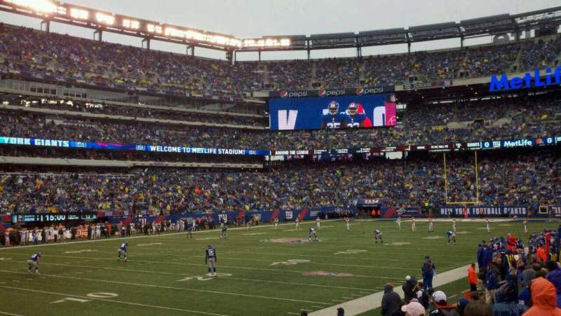 Seating view for MetLife Stadium Section 118 Row 9 Seat 8