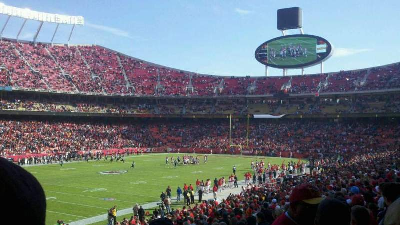 Seating view for Arrowhead Stadium Section 104 Row 31 Seat 5