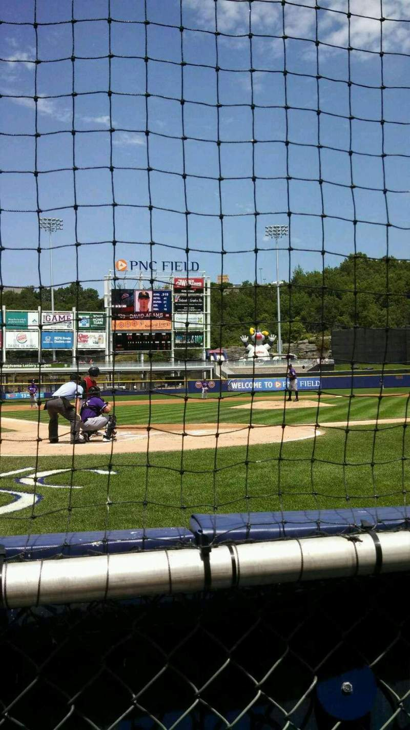 Seating view for PNC Field Section 20 Row 1 Seat 6