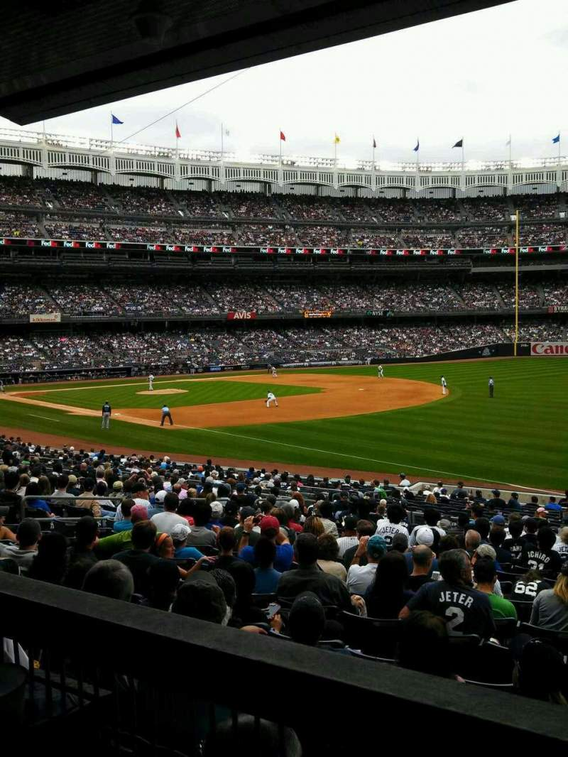 Seating view for Yankee Stadium Section 111 Row 27 Seat 1