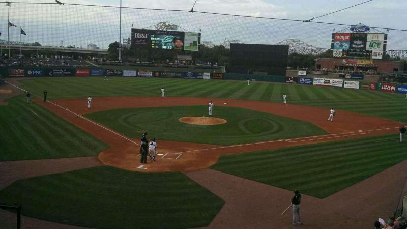 Seating view for Louisville Slugger Field Section 214 Row A Seat 6