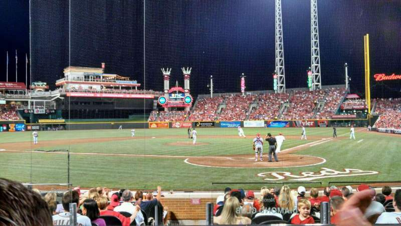 Seating view for Great American Ball Park Section 121 Row N Seat 5