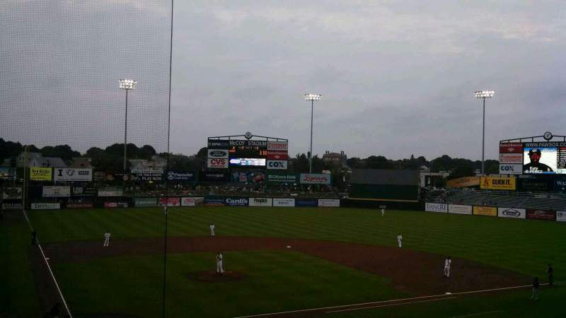 Seating view for McCoy Stadium Section 5 Row GG Seat 3