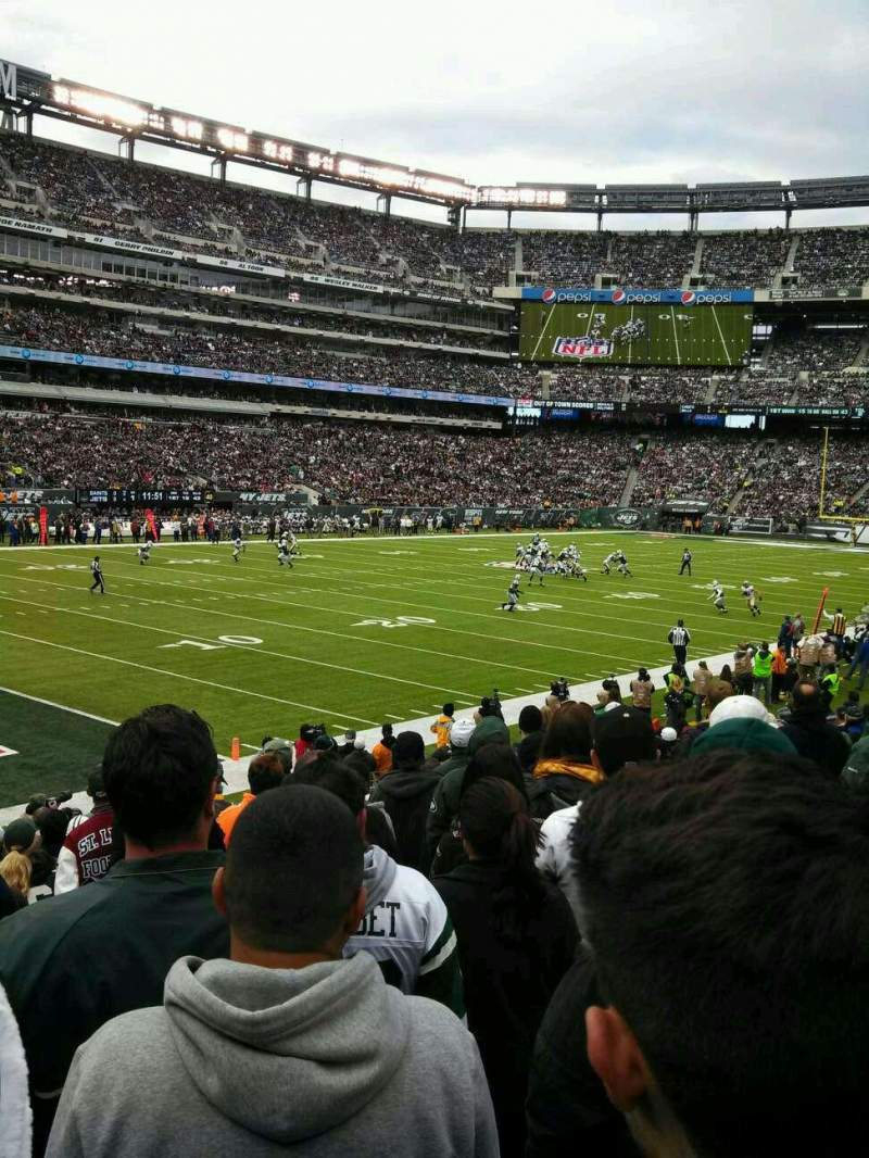 Seating view for MetLife Stadium Section 218 Row 14 Seat 15