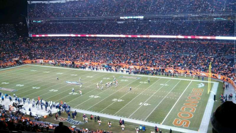Seating view for Sports Authority Field at Mile High Section 331 Row 18 Seat 5