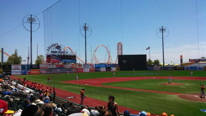 Seating view for MCU Park Section 3 Row P Seat 10