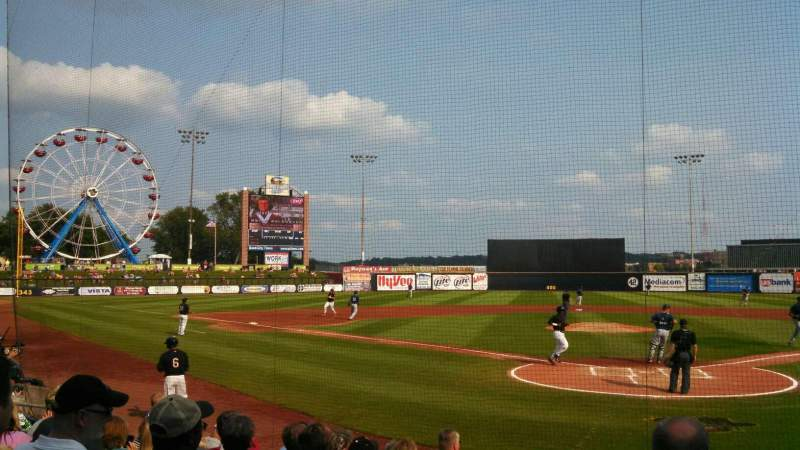 Seating view for Modern Woodmen Park Section 6 Row K Seat 14
