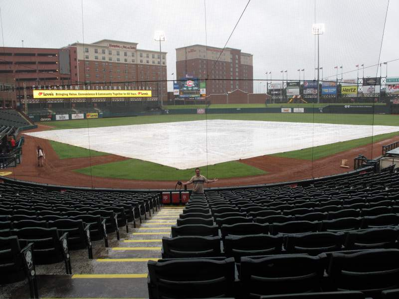 Seating view for Chickasaw Bricktown Ballpark Section 111 Row D Seat 9