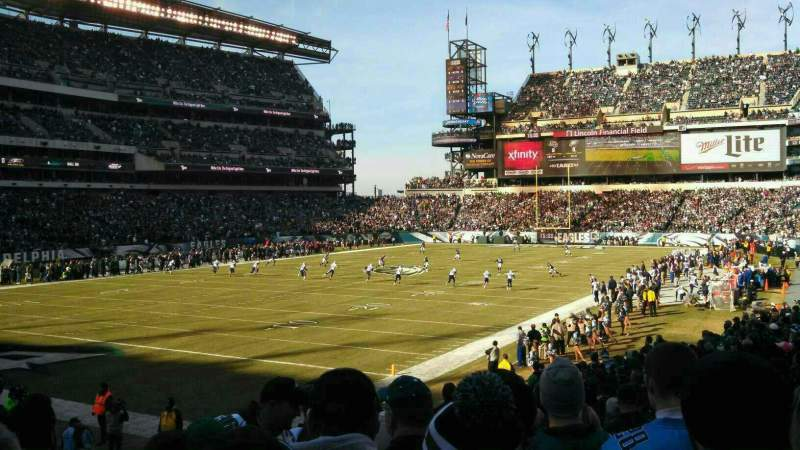 Seating view for Lincoln Financial Field Section 115 Row 21 Seat 17