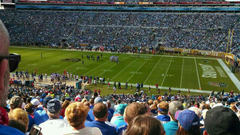 Seating view for EverBank Field Section 233 Row T Seat 9