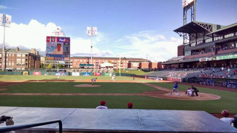 Seating view for AutoZone Park Section 106 Row H Seat 18