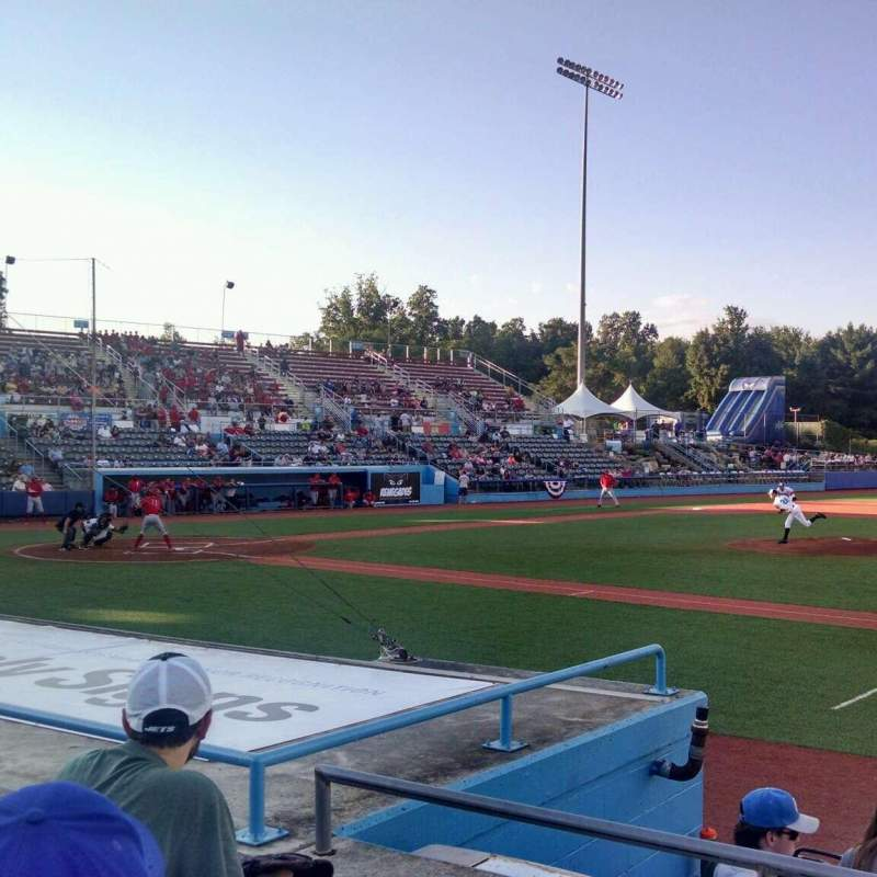 Seating view for Dutchess Stadium Section 102 Row F Seat 16