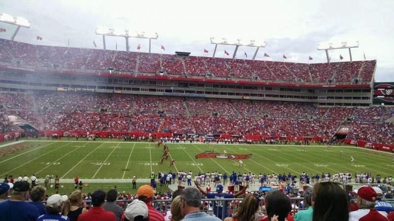 Seating view for Raymond James Stadium Section 234 Row G Seat 11