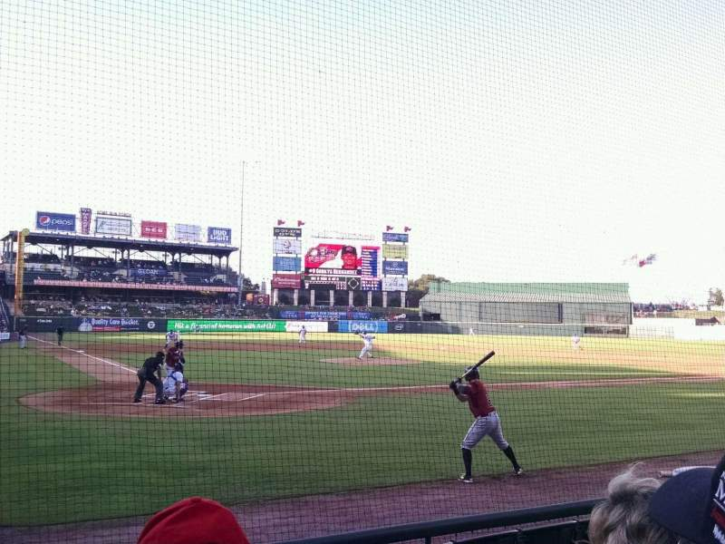 Seating view for Dell Diamond Section 121 Row 6 Seat 20