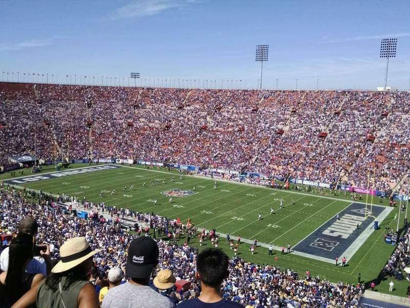 Seating view for Los Angeles Memorial Coliseum Section 3L Row 80 Seat 13