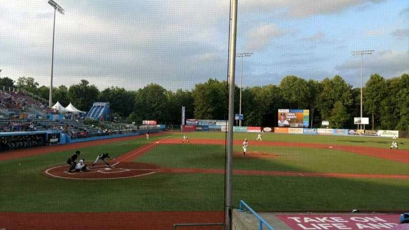 Seating view for Dutchess Stadium Section 104 Row H Seat 14