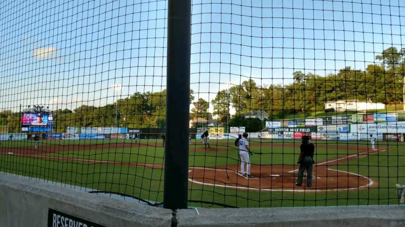 Seating view for Calfee Park Section 2C Row B Seat 5