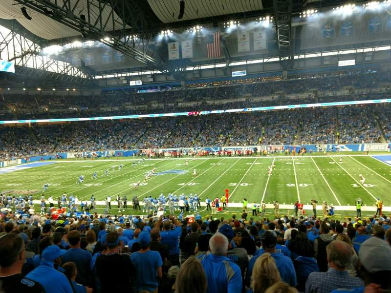 Seating view for Ford Field Section 108 Row 32 Seat 14