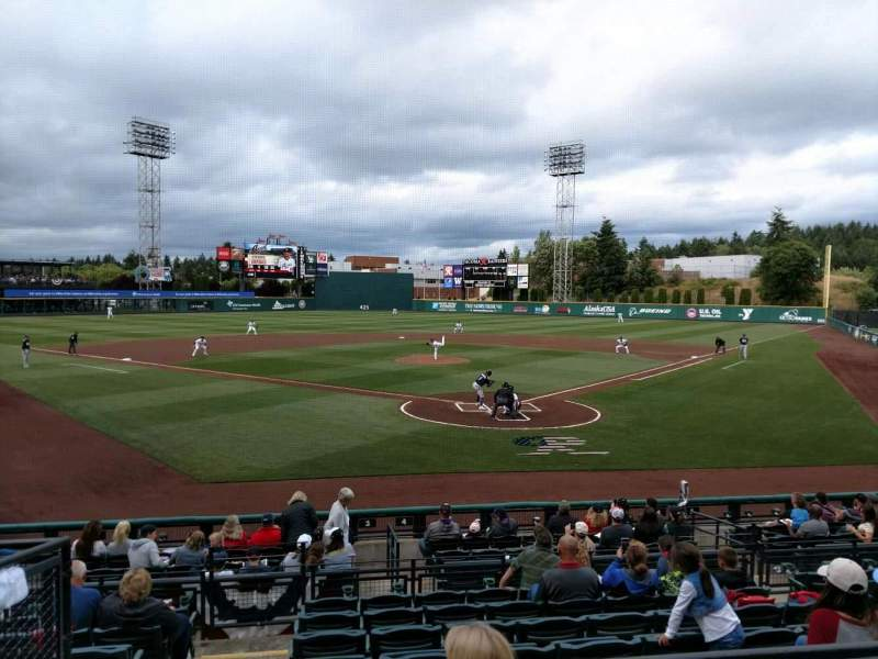 Seating view for Cheney Stadium Section 17 Row 1 Seat 17