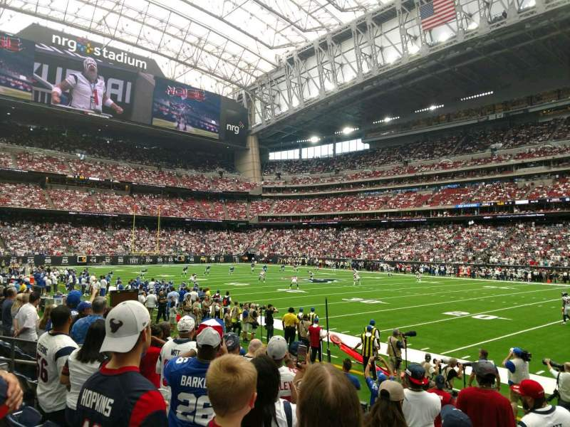 Seating view for NRG Stadium Section 123 Row G Seat 7