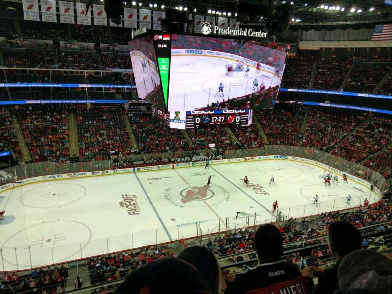 Seating view for Prudential Center Section 127 Row 3 Seat 14