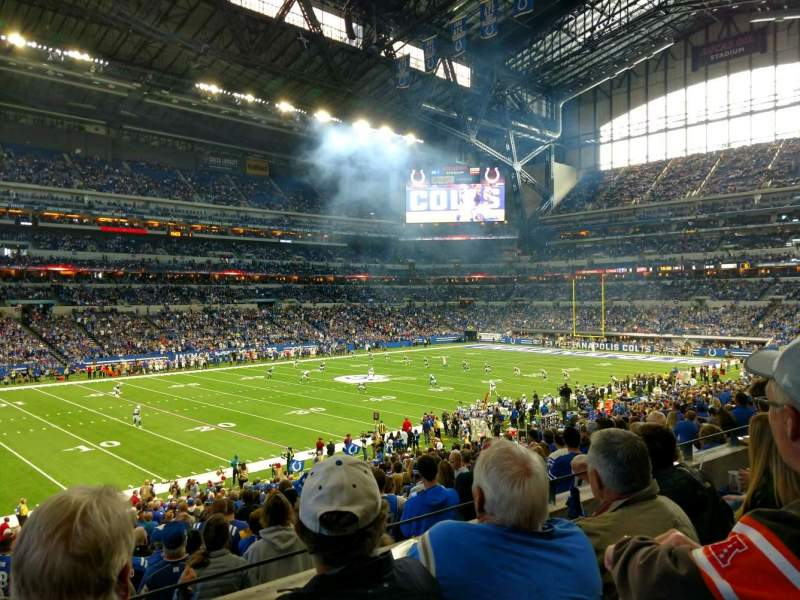 Seating view for Lucas Oil Stadium Section 244 Row 3 Seat 20
