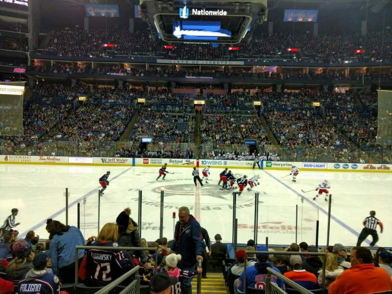 Seating view for Nationwide Arena Section 114 Row N Seat 18