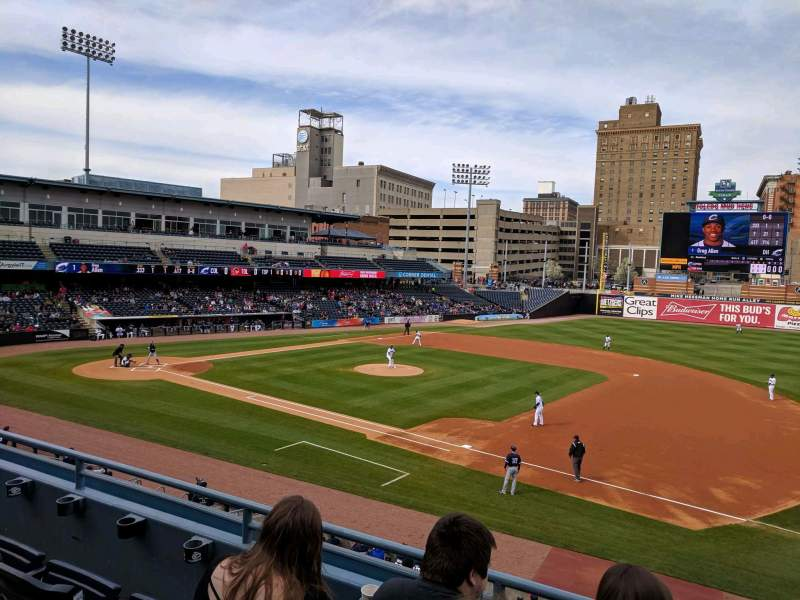Seating view for Fifth Third Field Section 215 Row C Seat 1