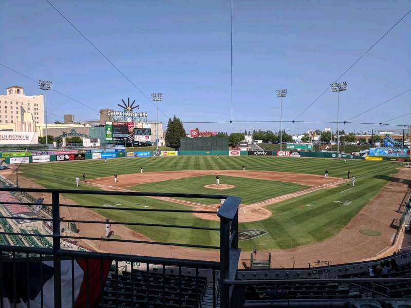Seating view for Chukchansi Park Section 214 Row 2 Seat 9