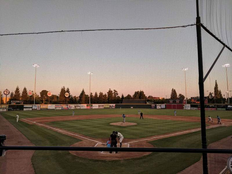 Seating view for Visalia Rawhide Baseball Club Section 200 Row E Seat 2