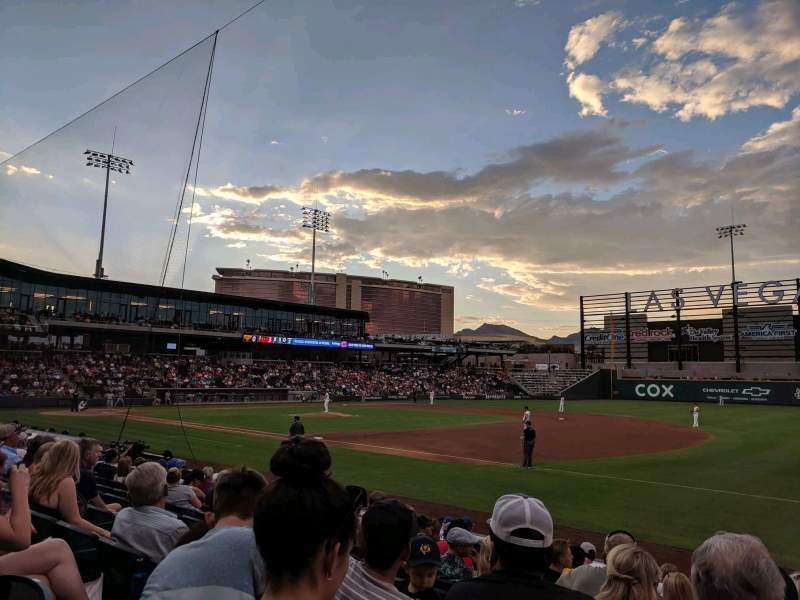 Seating view for Las Vegas Ballpark Section 105 Row L Seat 22