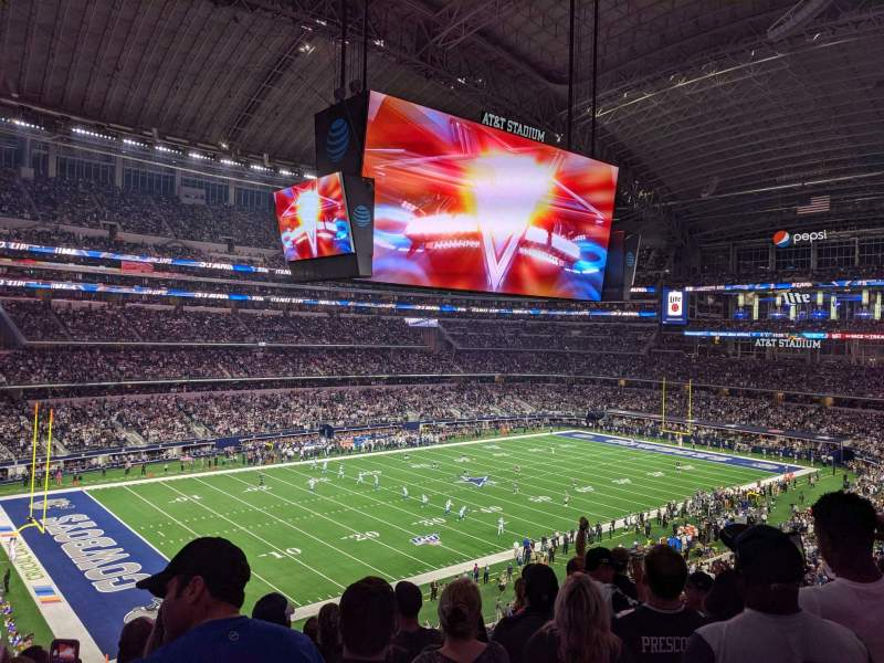 Seating view for AT&T Stadium Section 342 Row 8 Seat 6