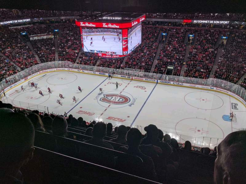 Seating view for Centre Bell Section 335 Row D Seat 2
