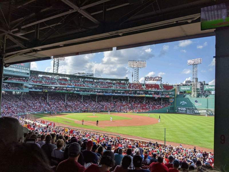 Seating view for Fenway Park Section Grandstand 9 Row 8 Seat 11